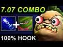 COMBO PUDGE 100 HOOK - DOTA 2 PATCH 7.07 NEW META PRO GAMEPLAY