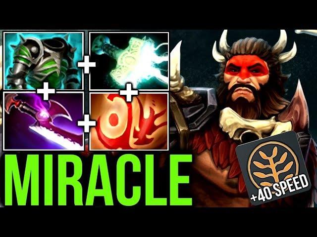 Miracle- Midlane Beastmaster Speed Build - vs Try Hard Defense Enemy Dota2