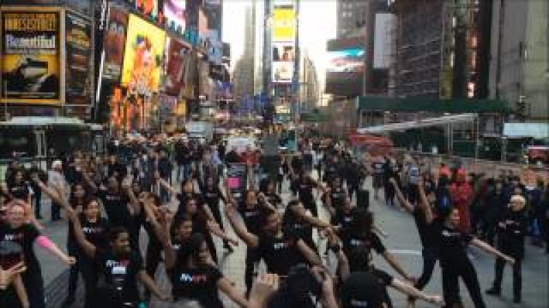 Jai Ho NYIFF Flash Mob in Times Square choreographed by Ajna Dance