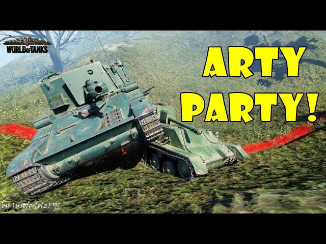 World of Tanks - Funny Moments | ARTY PARTY! 48