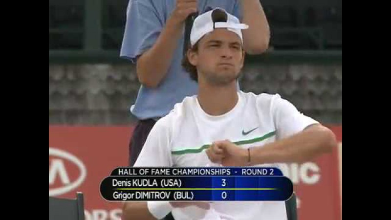 Grigor Dimitrov vs. Denis Kudla 1-6, 4-6 Campbell's Hall of Fame Tennis Championships 06.07.2011.