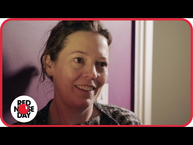 Olivia Colman meets 10 year old Charlie who cares for her mum