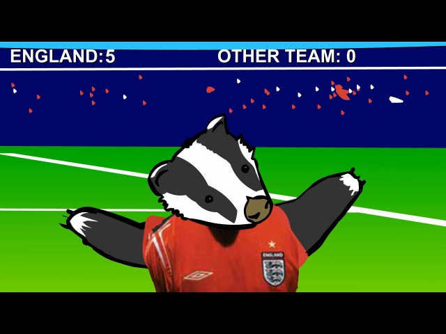 Football Badgers animated music video MrWeebl