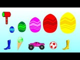 Learn Colors Mc Queen Car 3 Disney Ice Cream Surprise Eggs Foot Painting Body For Kids #learncolors