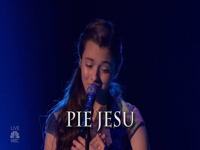 Laura Bretans' Semi-Final performance Pie Jesu om AGT