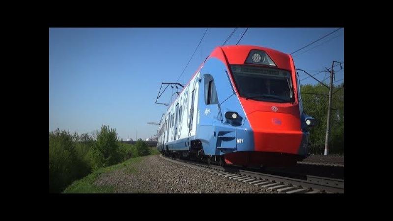 Электропоезд ЭГ2Тв 001 Иволга и приветливый машинист