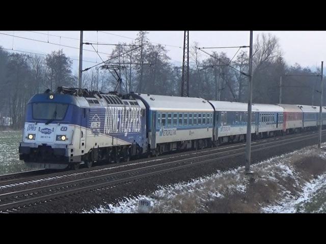 Vlaky Blansko - u trati 16.2.2018