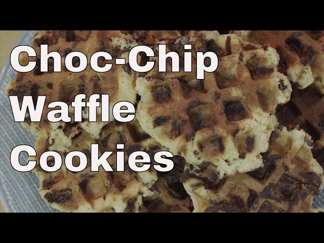 Chocolate Chip Waffle Cookies || Le Gourmet TV Recipes