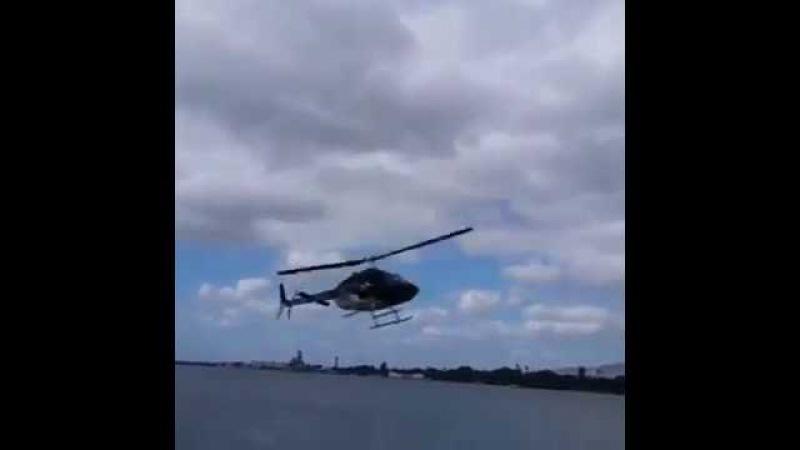 Helikopter tam inerken birden düşüyor ve kaza yapıyor