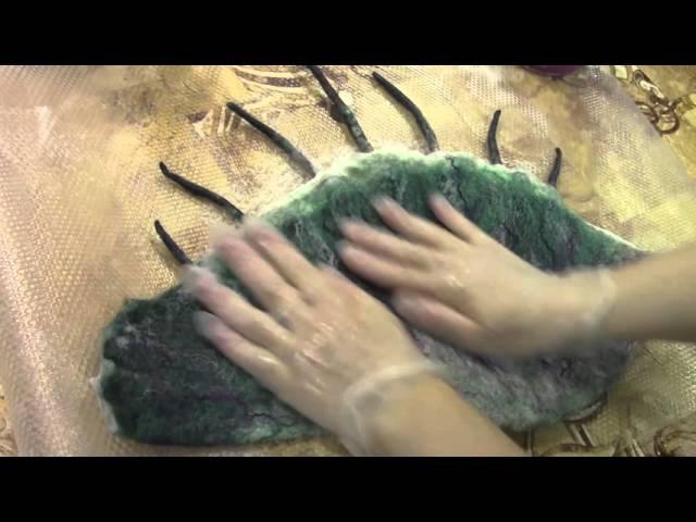 Видеозарисовка с МК. Валяние морской ракушки.