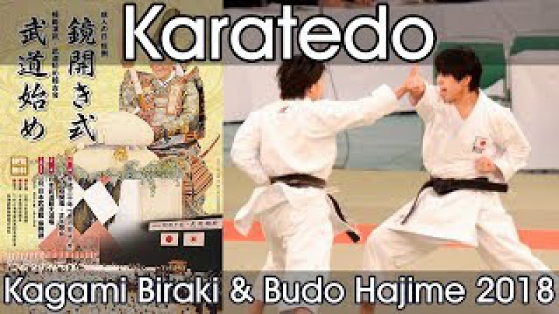 Karatedo Demonstration Nippon Budokan Kagamibiraki 2018