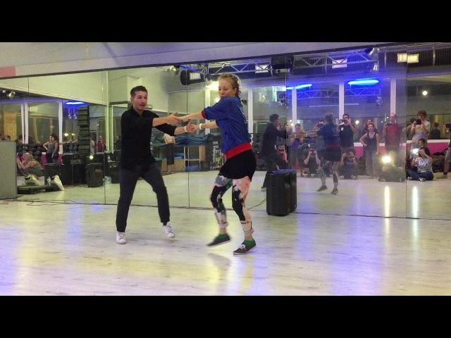 Lindy Hop lesson recap - Nicolas Deniau Mikaela Hellsten @ Swìngala 2017