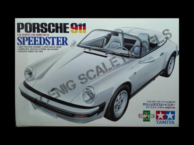 Обзор Porsche 911 Speedster (Snap-Loc) Tamiya 1/24 (сборные модели)