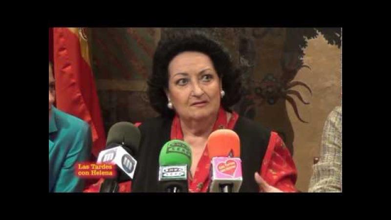 Rueda de Prensa de Montserrat Caballé Ayto de marbella.las Tardes con Helena