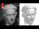 Рисунок гипсовой головы Диадумена