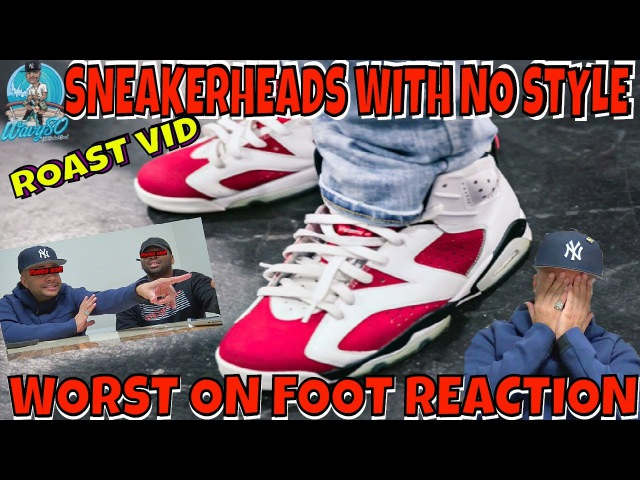 ROASTING SNEAKERHEADS WITH NO STYLE | WORST ON FOOT REACTION