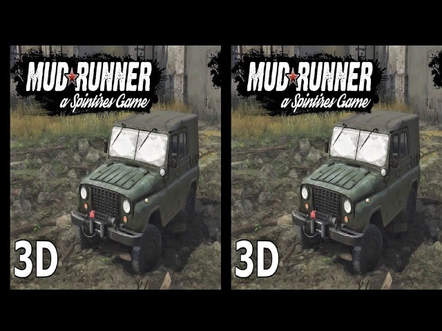 3D TV VR box video Spintires MudRunner Side by Side SBS
