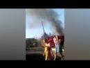 Пожар на ул. Батумская 422, горит дом (Омск 18.06.17)