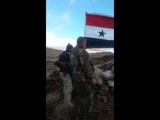 Поднятие флага после освобождения Бейт Джинн от террористов
