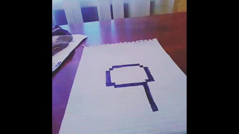 пиксельарты1 крипасын рисует