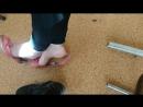 Schoolgirl bare foot
