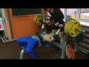 Жим лёжа 140 кг на 2 раза