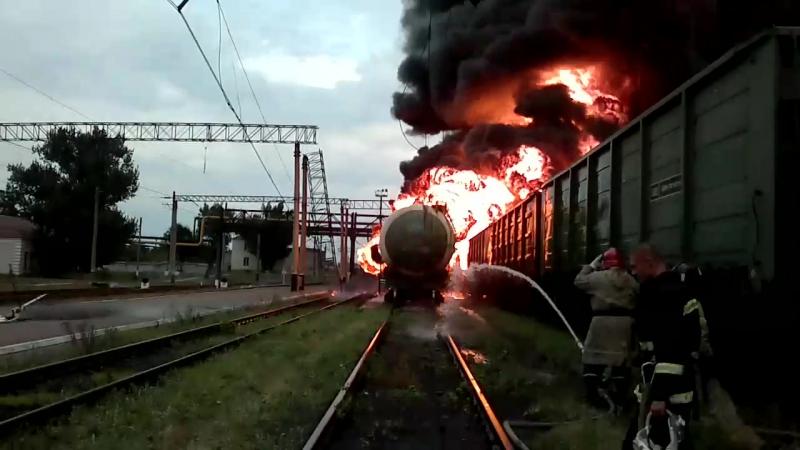 Пожар на ж/д станции