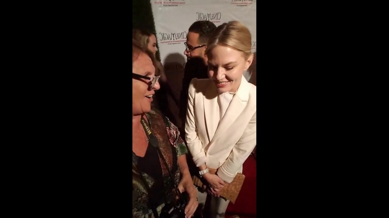 Sheryl Aronson On the red carpet for CineMagic with Jennifer Morrison