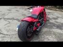 Harley Davidson VRSCDX V-Rod Night Rod Custom AirRide 260er Reifen Porsche Rot
