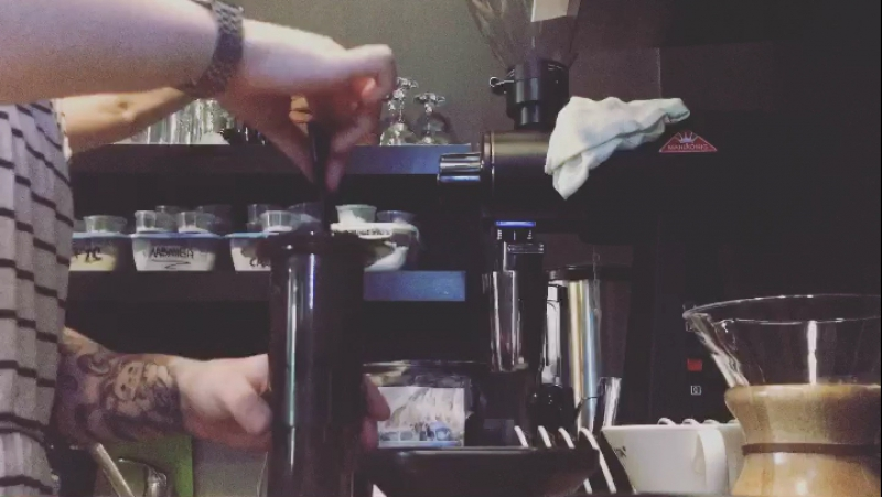 Aeropress milk and beans