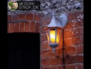 LED лампа ,имитирующая огонь.