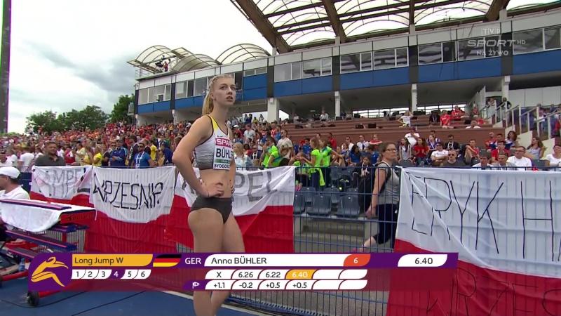 Anna BUHLER. Long Jump Final. Bydgoszcz (Poland). 13-16 July 2017