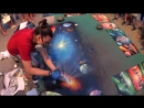 GIANT GALAXY Spray paint 3D picture (