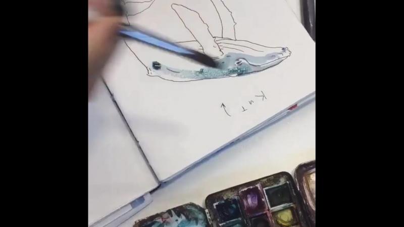 🐳Маша мастер по рисованию китов 🐳 В субботу 17 02 в 14 30 студия @ foxndowl в лице Маши и Лены будут учить всех желающих рисова