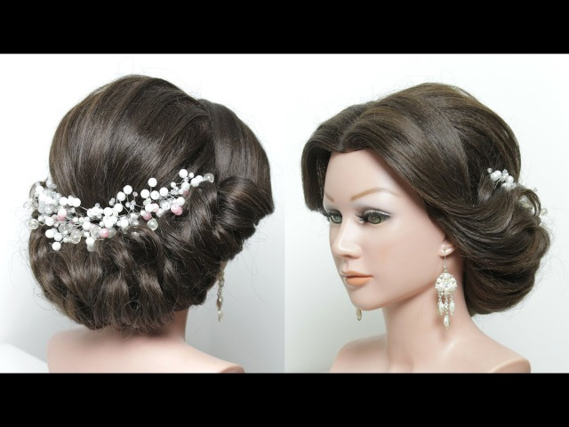 Elegant Updo. Hairstyle Tutorial For Medium Long Length Hair