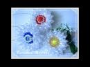 МК Очень простой цветочек из узкой органзы 🏵️