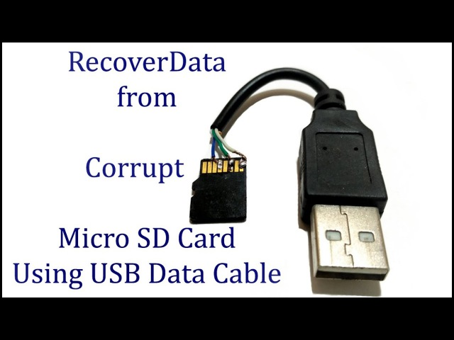 Recover Data from SD card using USB Data cable (memory card)