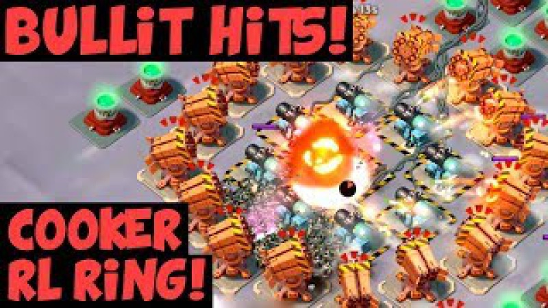 Bullit Taunt Hits Cooker RL Ring Opening Callisto Core Rush Other Hits ✦ Boom Beach