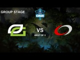 Optic vs Col LB Bo3 Game 1 Group Stage ESL One Katowice
