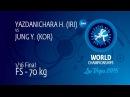 1/16 FS - 70 kg: H. YAZDANICHARA (IRI) df. Y. JUNG (KOR) by TF, 16-4