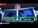 Carolina Panthers vs. Detroit Lions | #NFL WEEK 5 | Predictions Madden 18