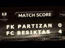 NAVIJAČI PARTIZANA Partizan Beşiktaş J K 0 4 23 10 2014