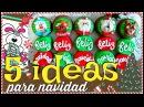 5 IDEAS para NAVIDAD con GALLETA cubierta con CHOCOLATE y BOMBÓN Bomgoletas Navidad 2017