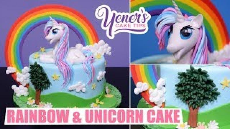 RAINBOW UNICORN Cake Tutorial | Yeners Cake Tips with Serdar Yener from Yeners Way