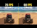 25 FPS vs. 60 FPS Gaming