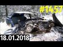 Новая подборка ДТП и аварий от Дорожных войн за 18.01.2018. Видео №1457.