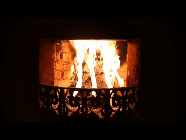 Fireplace Thunderstorm Sounds for Sleep Relaxation (Rumbling Thunder Strong Wind)