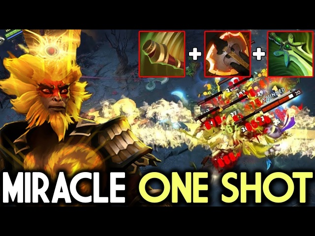 Miracle- Dota 2 [Monkey King] Insane Crit Boundless Strike One Shot