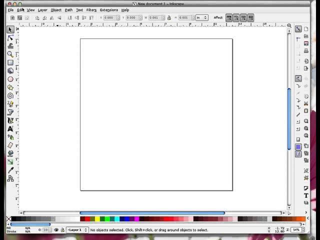 Inkscape Toolbars