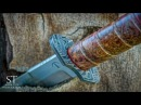 Making TANTO KNIFE DAMASCUS Handguard and Pommel Part 2